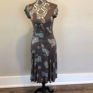 Boden Grey v neck a line dress WH496 EUC size 8R